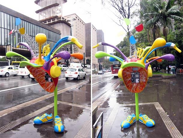 Call Parade: 100 cabines telefônicas decoradas por 100 artistas em São Paulo